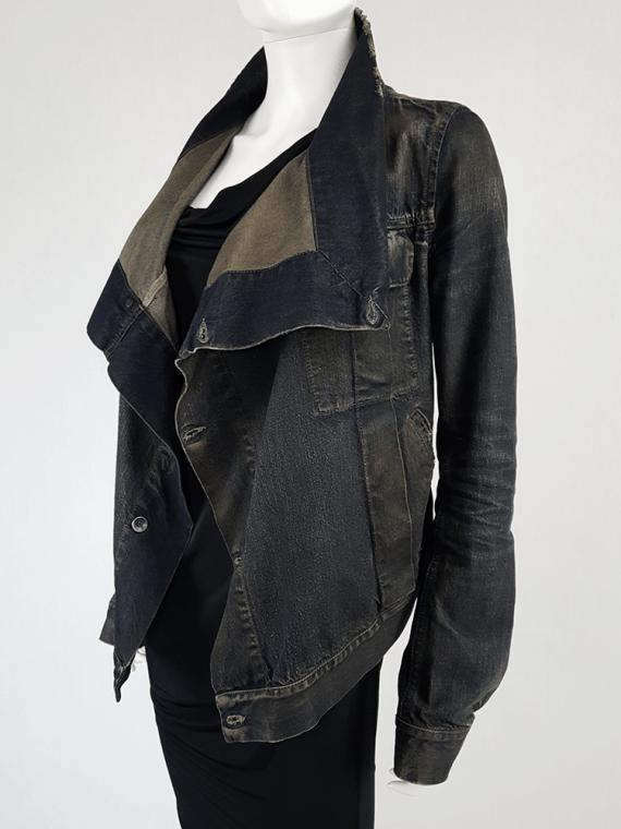 vintage Rick Owens DRKSHDW dark blue denim exploder jacket 133701