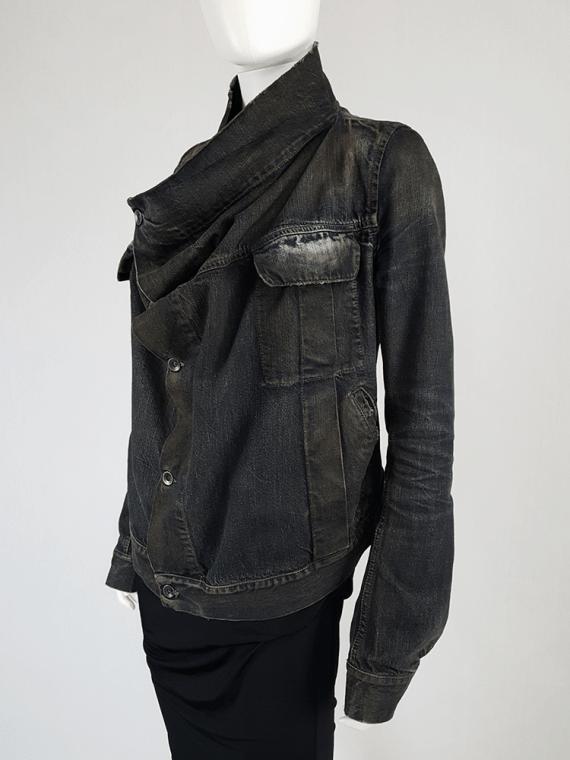 vintage Rick Owens DRKSHDW dark blue denim exploder jacket 133842(0)