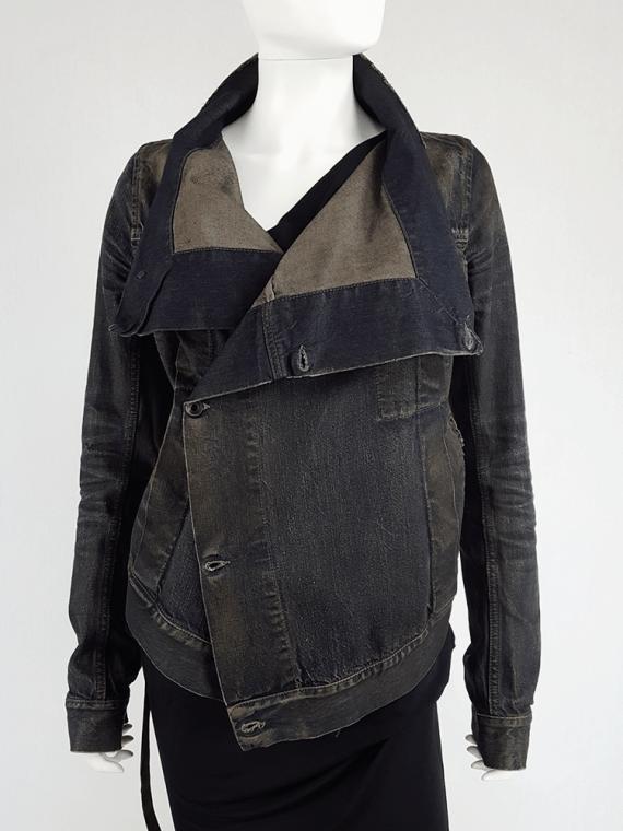 vintage Rick Owens DRKSHDW dark blue denim exploder jacket 134129