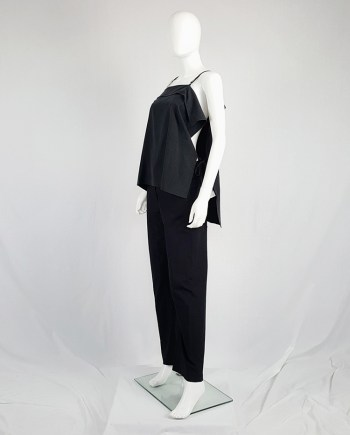 Yohji Yamamoto black square top with open sides