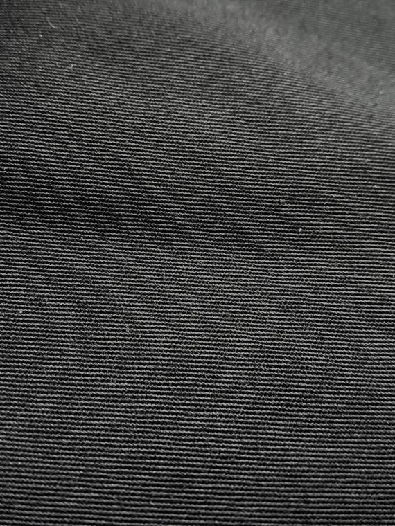 vintage Yohji Yamamoto black structured skirt with sideways curve 080714