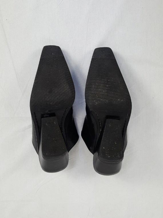 vintage Ann Demeulemeester black mules with slanted heel spring 2001 120925(0)