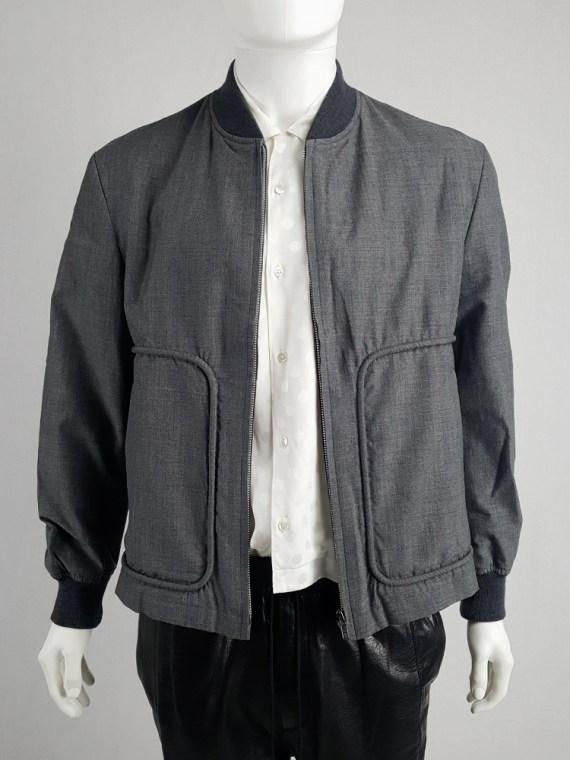 vintage Comme des Garcons Homme grey bomber jacket AD 1997 202449