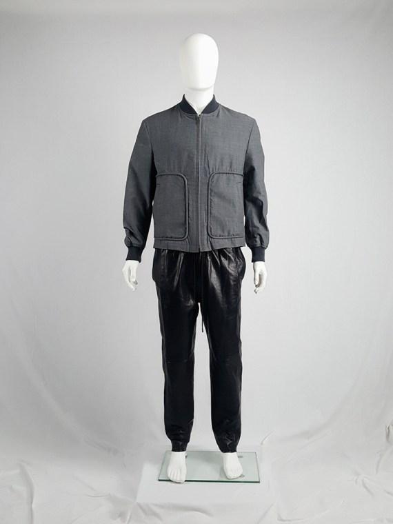 vintage Comme des Garcons Homme grey bomber jacket AD 1997 202533