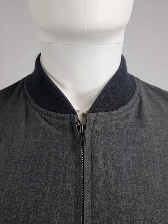 vintage Comme des Garcons Homme grey bomber jacket AD 1997 202558