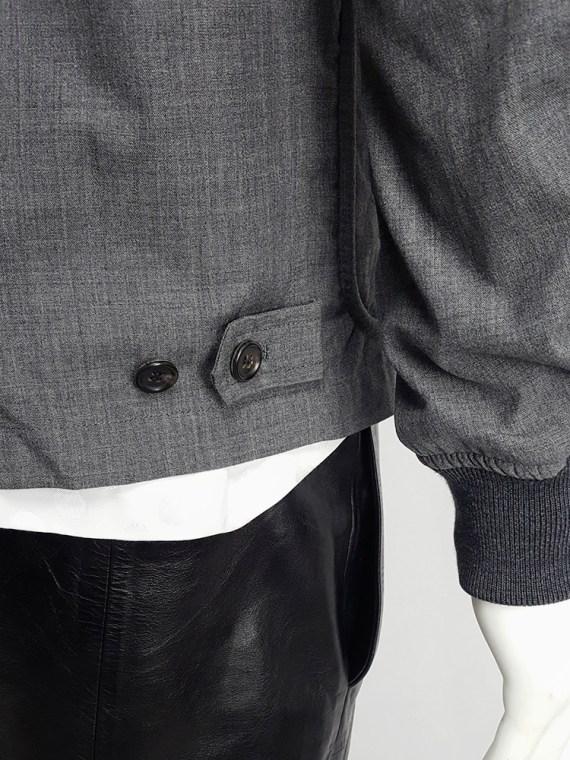 vintage Comme des Garcons Homme grey bomber jacket AD 1997 203017