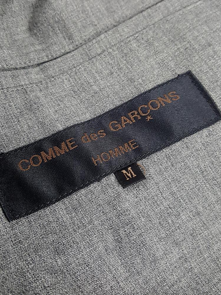 vintage Comme des Garcons Homme grey bomber jacket AD 1997 20332