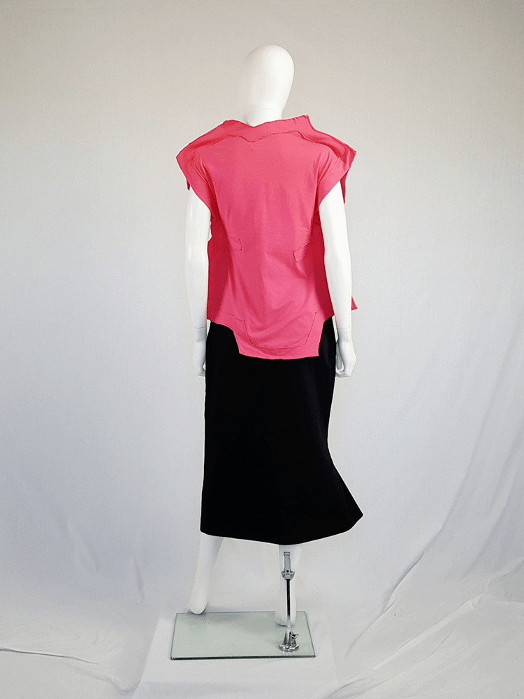 vintage Comme des Garcons pink two dimensional paperdoll top fall 2012 093935(0)