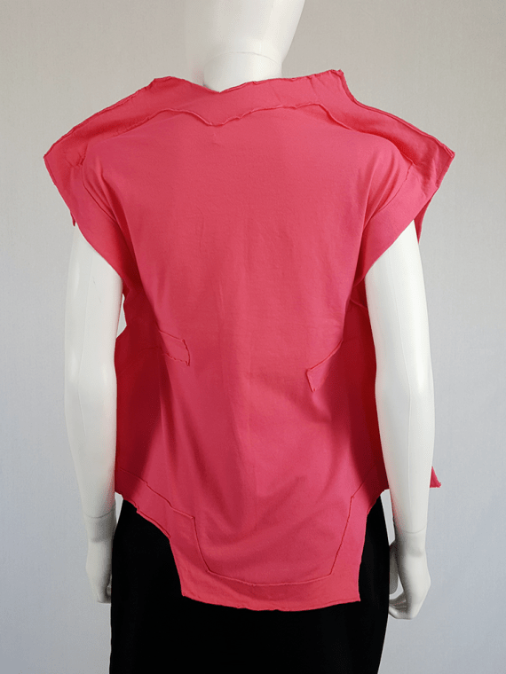 vintage Comme des Garcons pink two dimensional paperdoll top fall 2012 093954