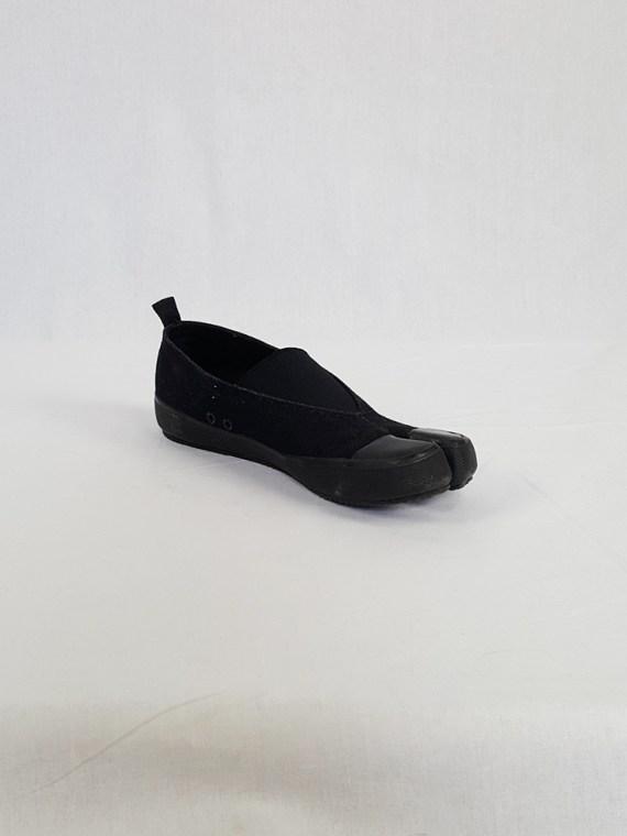 vintage Maison Martin Margiela MM6 black tabi sneaker slip ons early 2000s 115221