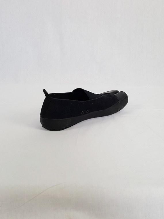 vintage Maison Martin Margiela MM6 black tabi sneaker slip ons early 2000s 115244