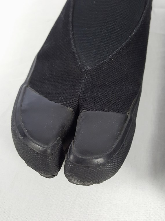 vintage Maison Martin Margiela MM6 black tabi sneaker slip ons early 2000s 115331