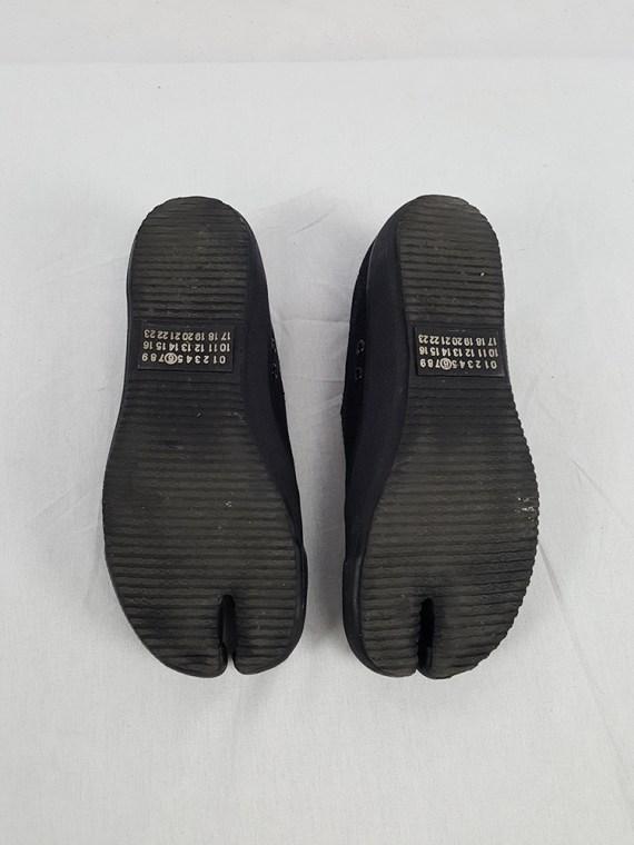 vintage Maison Martin Margiela MM6 black tabi sneaker slip ons early 2000s 115416
