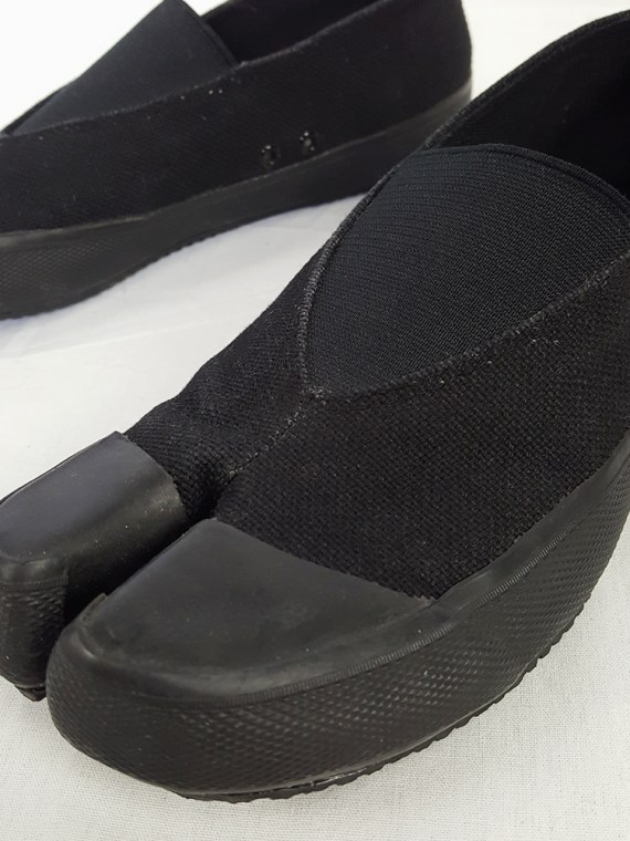 vintage Maison Martin Margiela MM6 black tabi sneaker slip ons early 2000s 115457