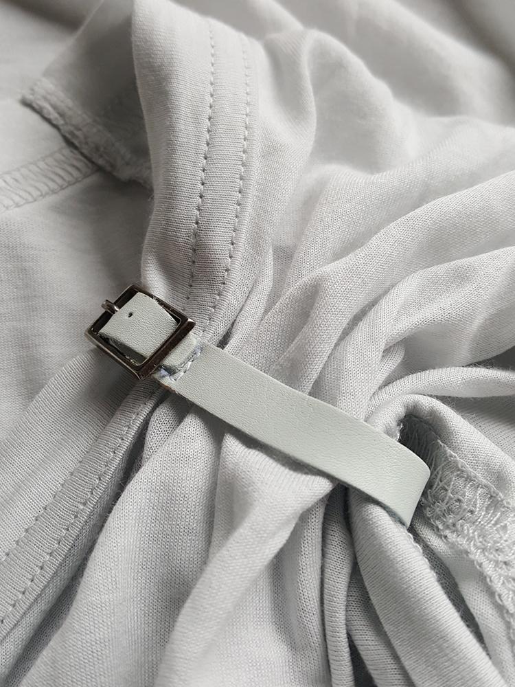 vintage Maison Martin Margiela grey tshirt with gathered sleeve spring 2008 114435(0)