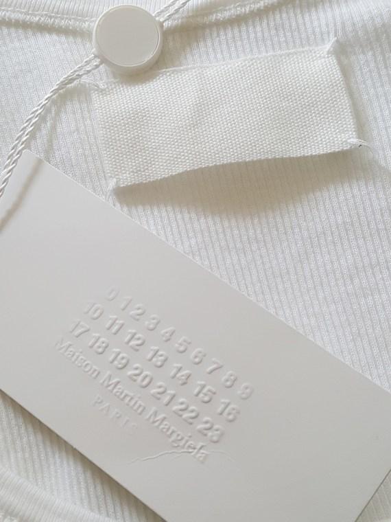 vintage Maison Martin Margiela white stapled tanktop spring 2007 111501