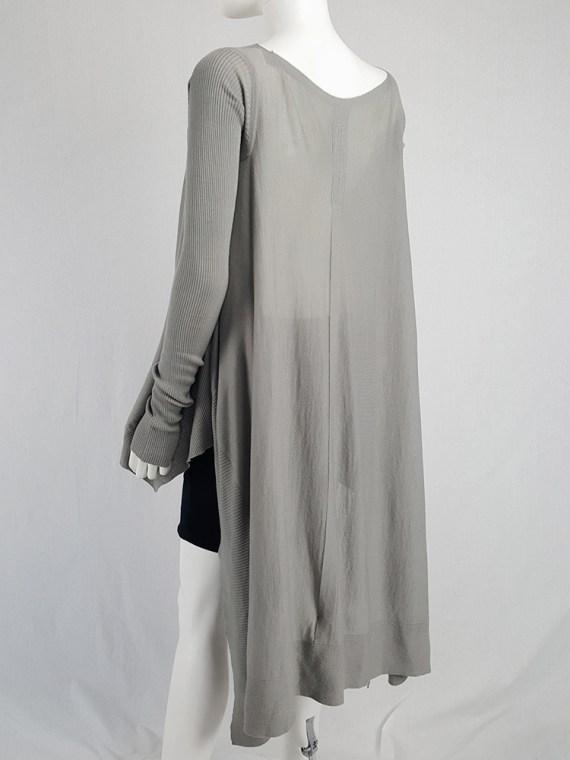 vintage Rick Owens MOODY grey long jumper with back drape fall 2014 113712