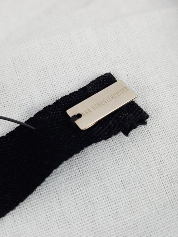 Ann Demeulemeester black beaded choker or bracelet — spring 2018