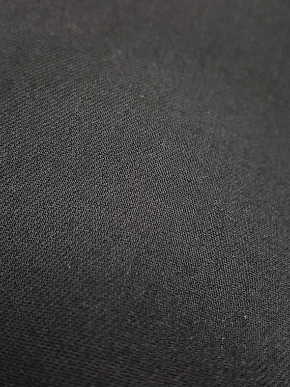 vintage Ann Demeulemeester black maxi skirt with back wrap 221654
