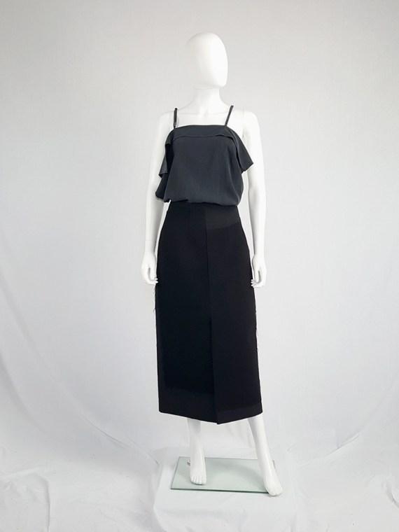 vintage Comme des Garcons black paneled maxi skirt fall 1997 122051