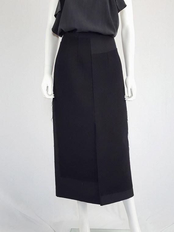 vintage Comme des Garcons black paneled maxi skirt fall 1997 122149