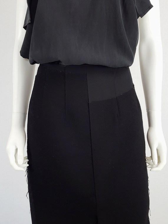 vintage Comme des Garcons black paneled maxi skirt fall 1997 122229