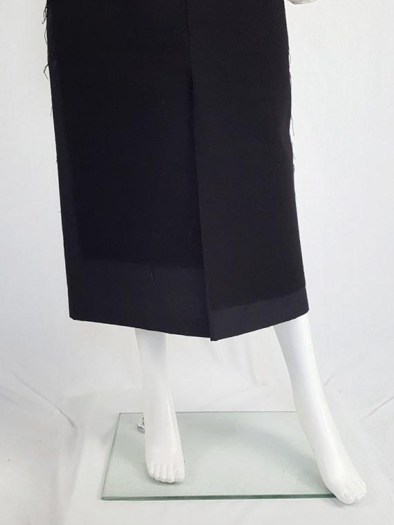 vintage Comme des Garcons black paneled maxi skirt fall 1997 122235