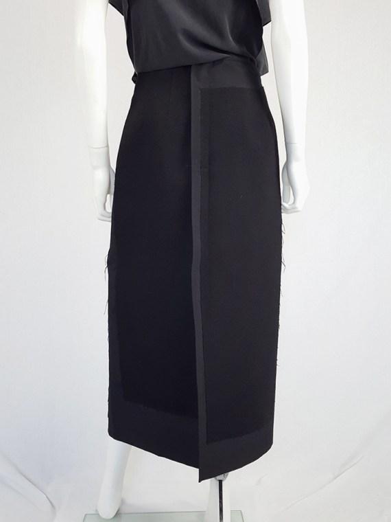 vintage Comme des Garcons black paneled maxi skirt fall 1997 122430(0)
