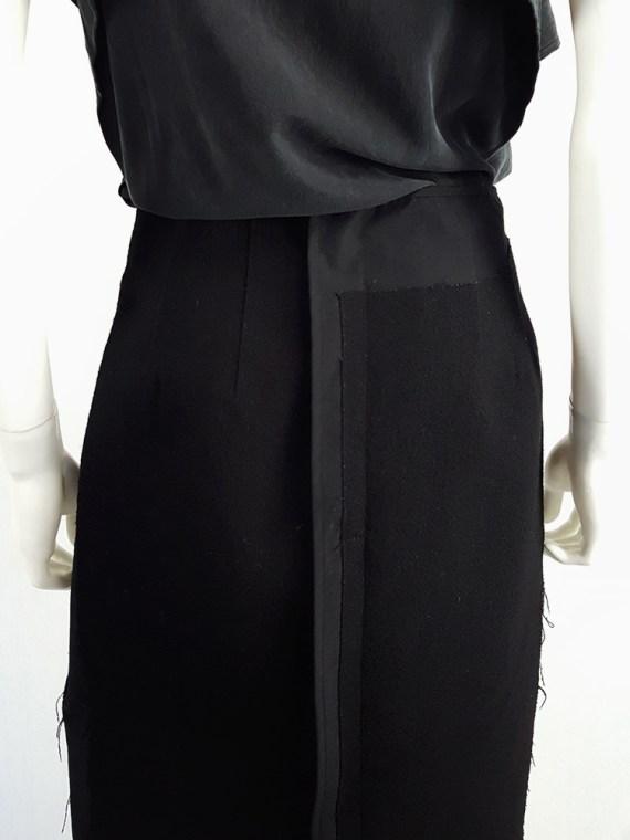 vintage Comme des Garcons black paneled maxi skirt fall 1997 122457