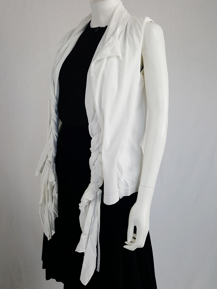 vintage Comme des Garcons white vest with oversized braids spring 2003 120434