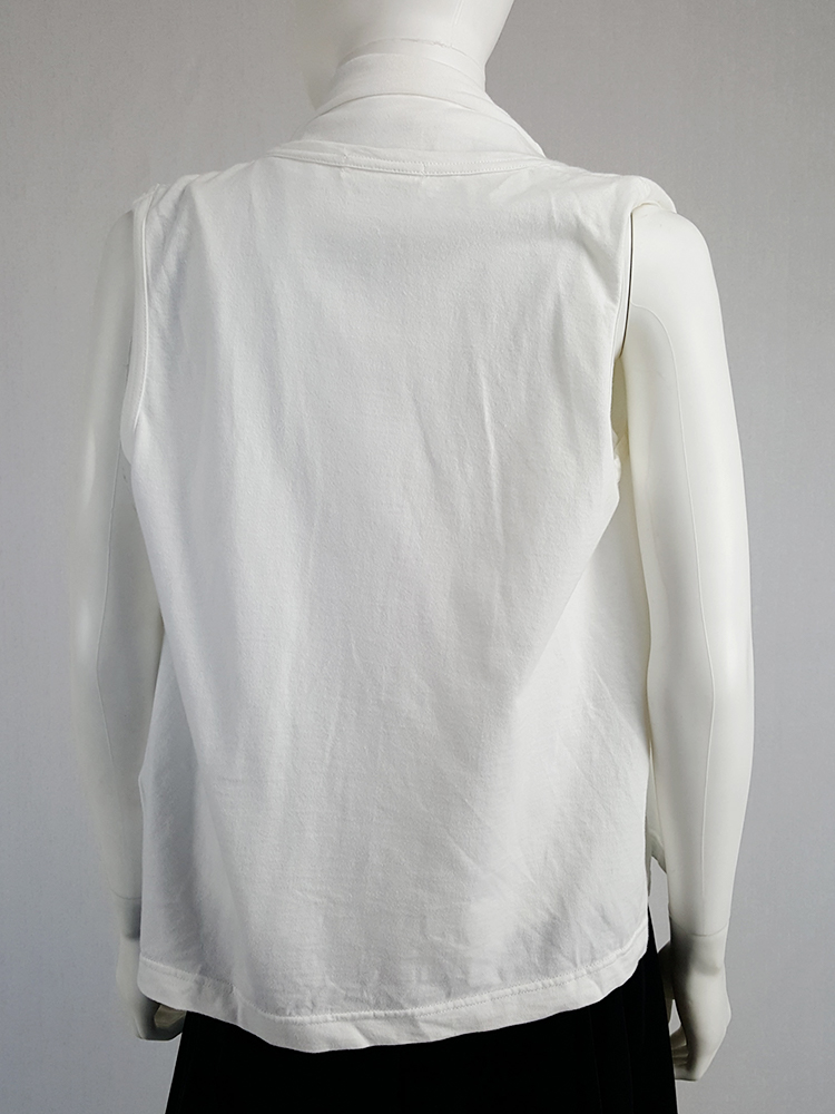 vintage Comme des Garcons white vest with oversized braids spring 2003 120521