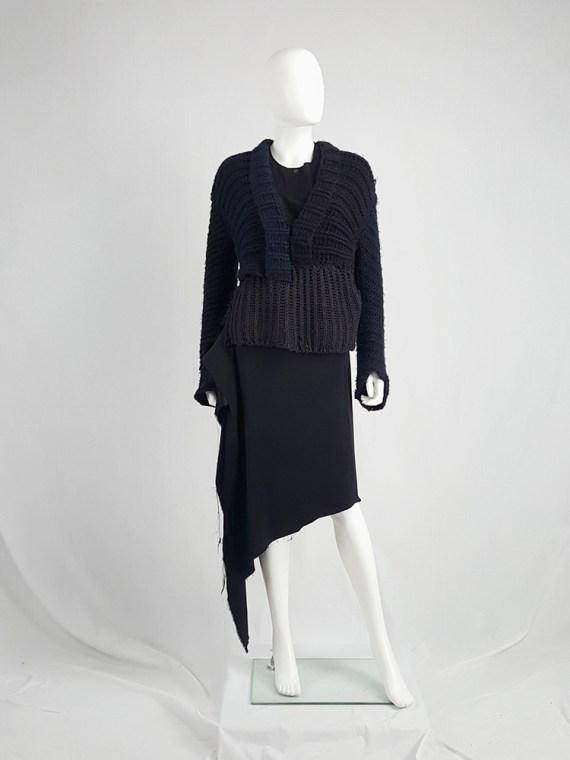vintage Maison Martin Margiela artisanal black jumper made of scarves and jumpers 212241