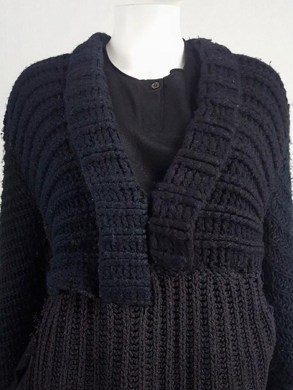 vintage Maison Martin Margiela artisanal black jumper made of scarves and jumpers 212406