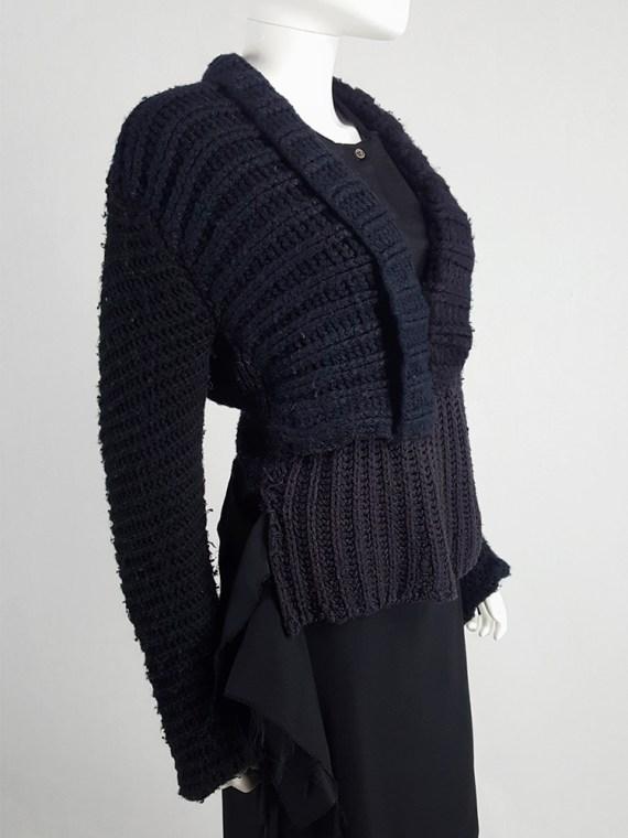 vintage Maison Martin Margiela artisanal black jumper made of scarves and jumpers 212449