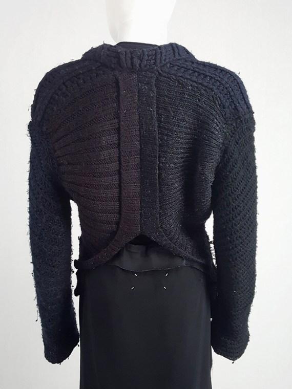 vintage Maison Martin Margiela artisanal black jumper made of scarves and jumpers 212601