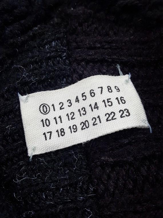 vintage Maison Martin Margiela artisanal black jumper made of scarves and jumpers 213655
