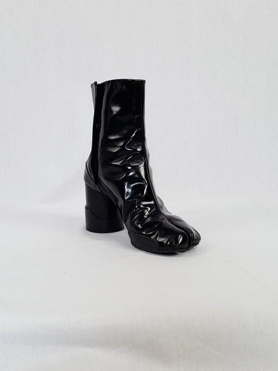 vintage Maison Martin Margiela black patent techno tabi boots fall 2014 134050(0)