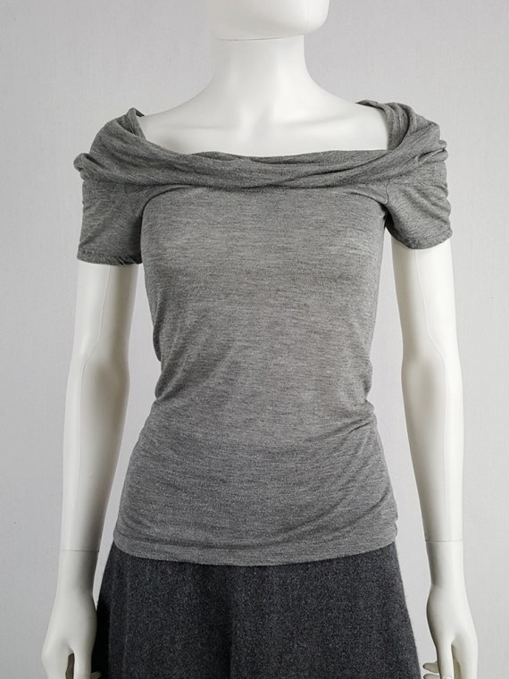 vintage Maison Martin Margiela grey chair cover top with stretched neckline fall 2006 172842