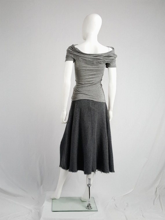 vintage Maison Martin Margiela grey chair cover top with stretched neckline fall 2006 172935