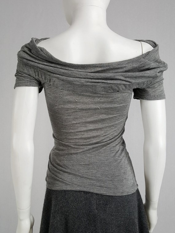vintage Maison Martin Margiela grey chair cover top with stretched neckline fall 2006 172955