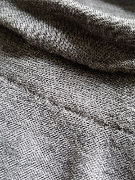 vintage Maison Martin Margiela grey chair cover top with stretched neckline fall 2006 180905