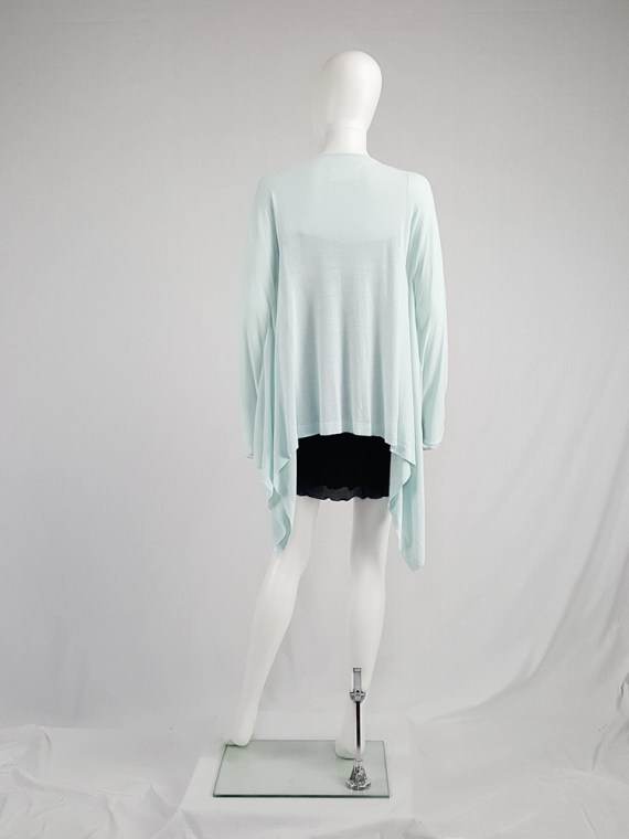 vintage Maison Martin Margiela mint green cardigan with integrated sleeves runway spring 2008 103906