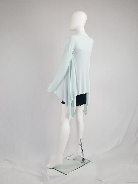 Maison Martin Margiela mint green cardigan with integrated sleeves — spring 2008