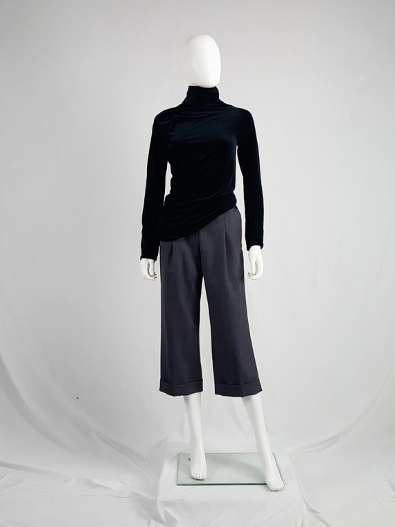 vintage Maison Martin Margiela replica blue 1930s ladys cropped trousers fall 2006 223034