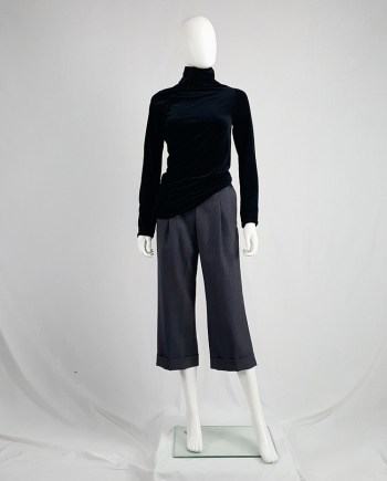 Maison Martin Margiela replica blue 1930's lady's cropped trousers — fall 2006