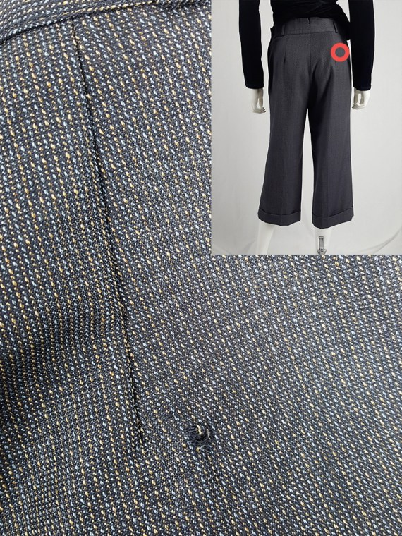 vintage Maison Martin Margiela replica blue 1930s ladys cropped trousers fall 2006 223633