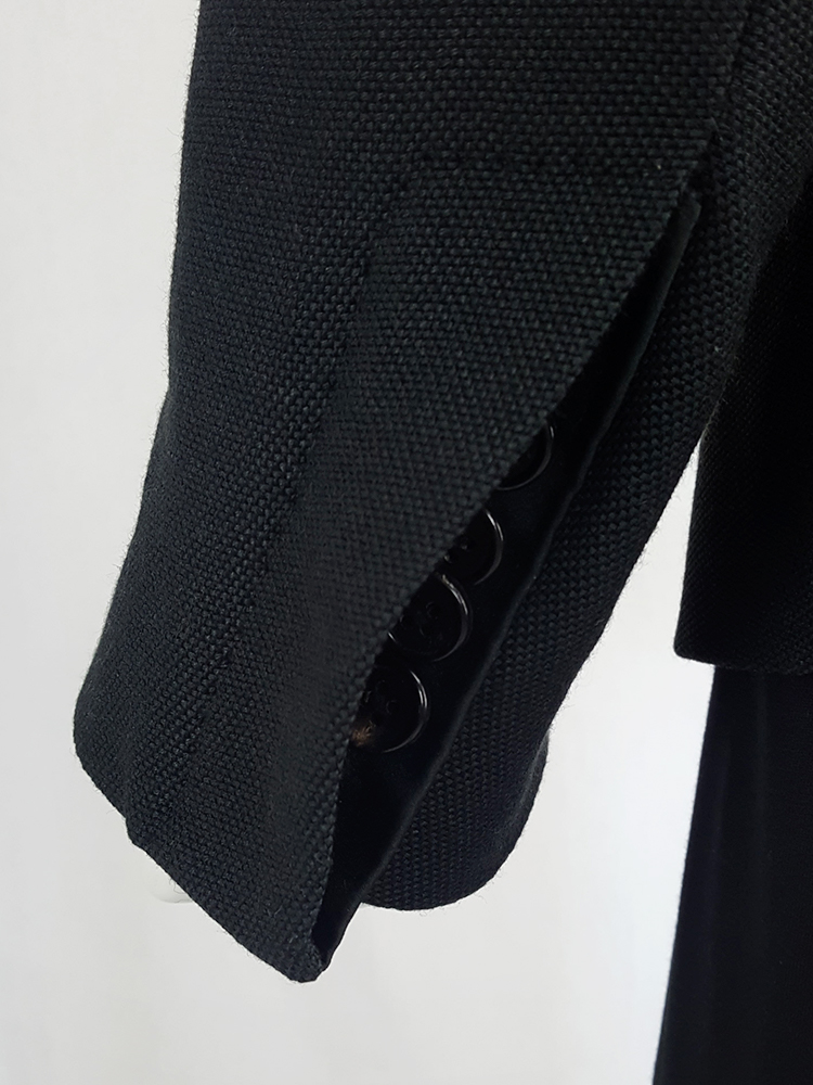 Ann Demeulemeester black blazer with stitched satin lapels