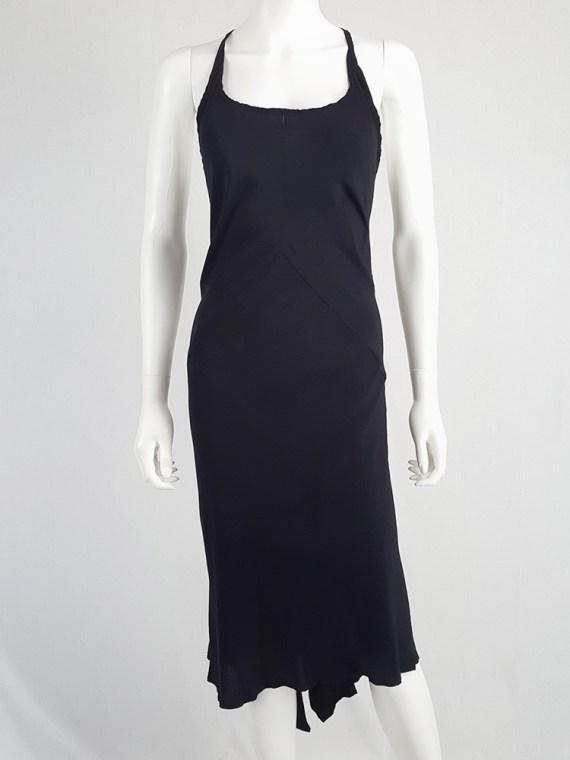 vintage Ann Demeulemeester black strappy dress with mermaid skirt spring 2007 113032(0)