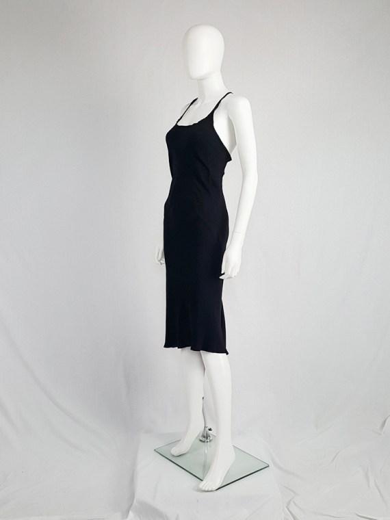 vintage Ann Demeulemeester black strappy dress with mermaid skirt spring 2007 11322