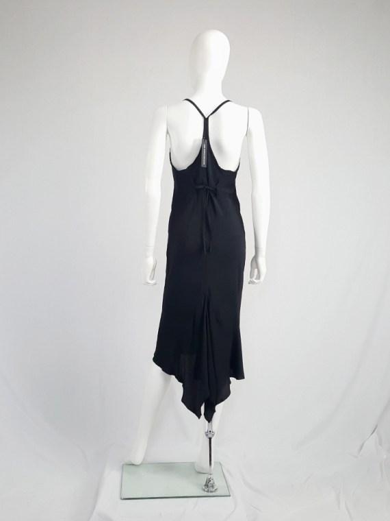 vintage Ann Demeulemeester black strappy dress with mermaid skirt spring 2007 113333